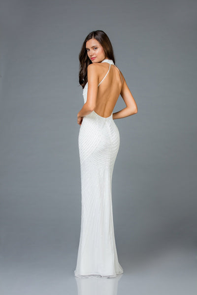 Scala Open Back Fitted Dress 48948 - Elbisny