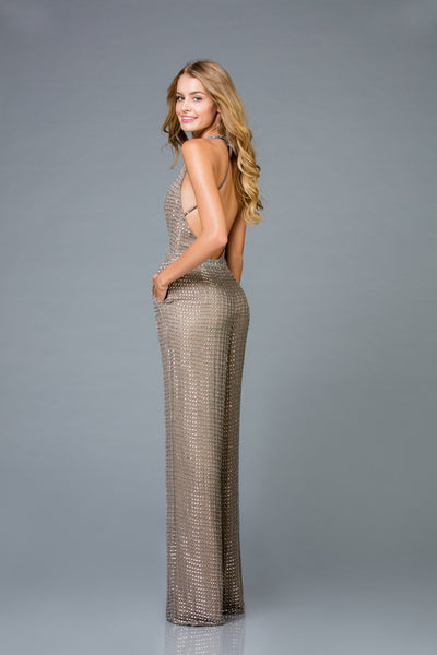 Scala Sequins Pant Suit 48941 - Elbisny