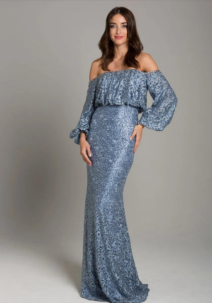 LARA 29877 - LACE OFF SHOULDER MERMAID GOWN - Elbisny