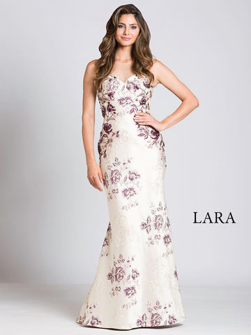 Lara 33522 - Embroidered Mermaid Dress - Elbisny