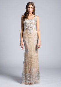 Lara 33622 - Lace Beaded Gown - Elbisny