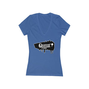 Graffiti Park™ Women's Jersey Short Sleeve Deep V-Neck Tee