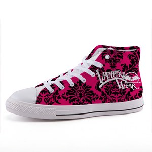 VampireWear® Hot Pink High-top fashion canvas shoes