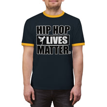 Load image into Gallery viewer, Hip Hop Lives Matter® Unisex Ringer Tee