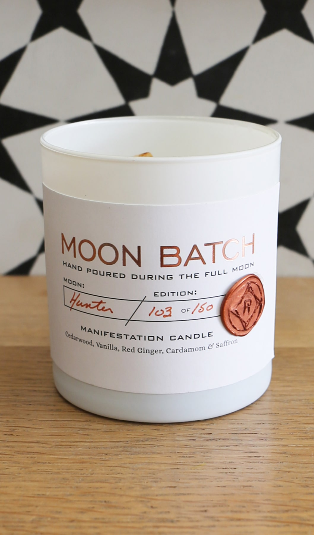 Matte White Moon Candle