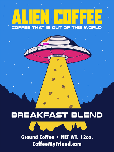 Alien Coffee Space Ship Breakfast Blend