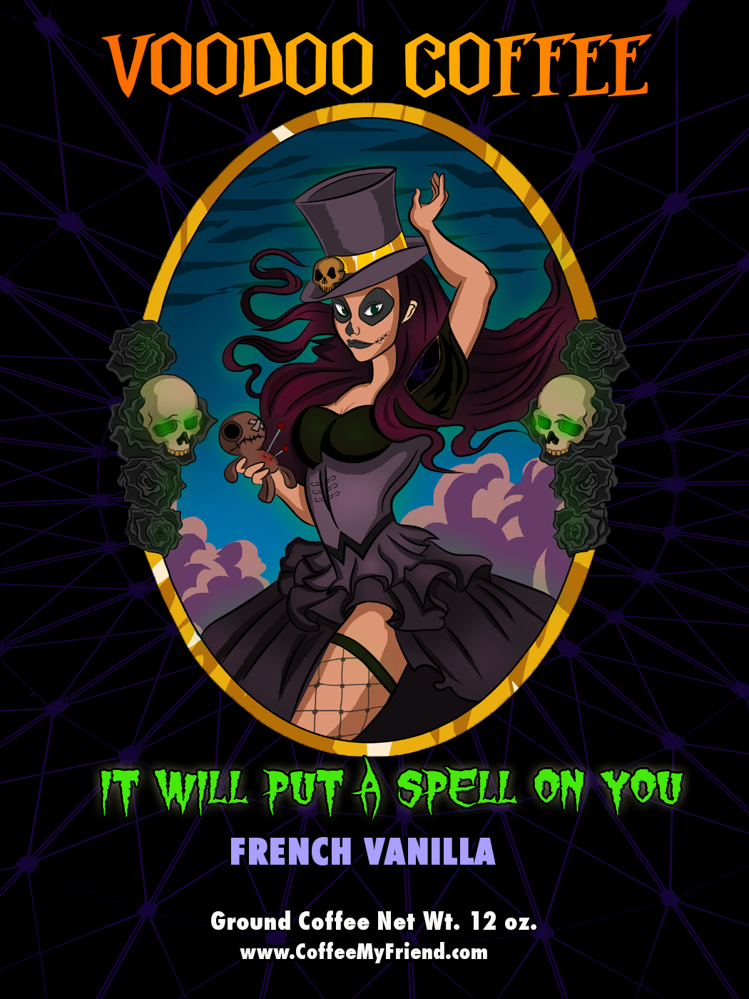 Voodoo Coffee  Witch Doctress French Vanilla Flavored