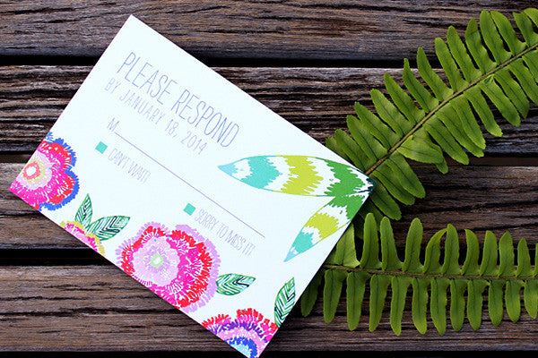 An Lim Wildflower RSVP Card