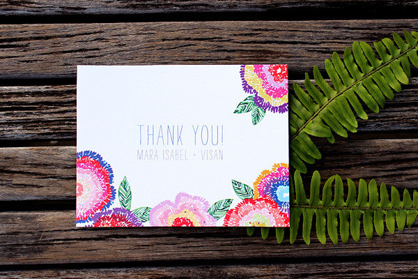 An Lim Wildflower Thank You Card