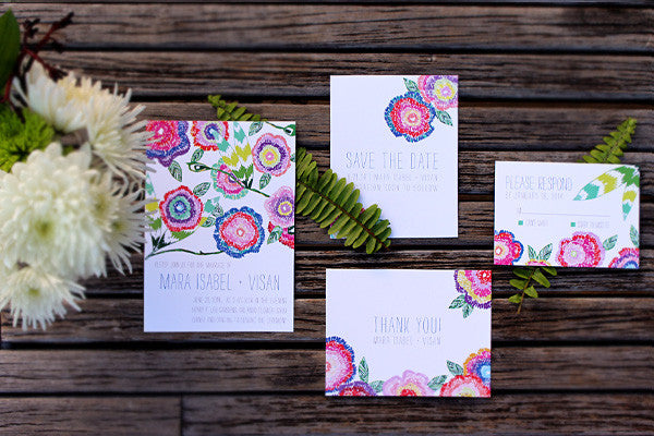 An Lim Wildflower Wedding Invitation Set