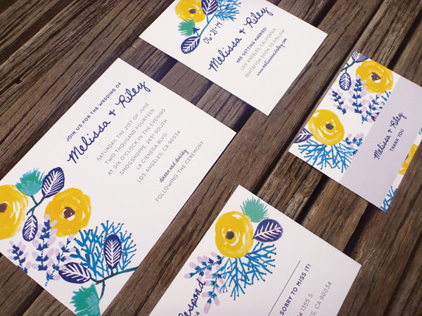 An Lim Beginning of Summer Wedding Invitation Set