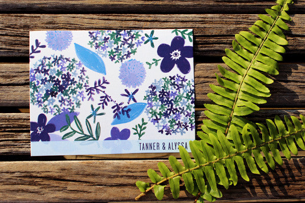 An Lim Indigo Blooms Thank You Card