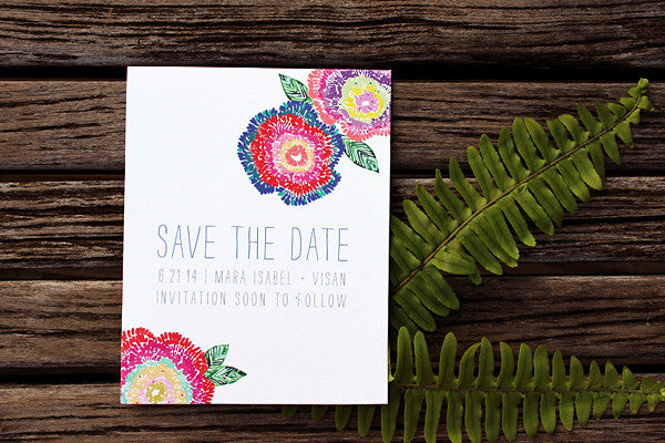 An Lim Wildflower Save the Date Card