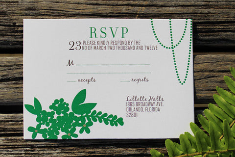 An Lim Midnight Garden RSVP Card