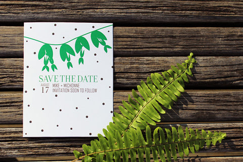 An Lim Midnight Garden Save the Date Card