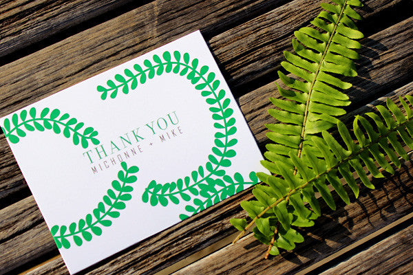 An Lim Midnight Garden Thank You Card