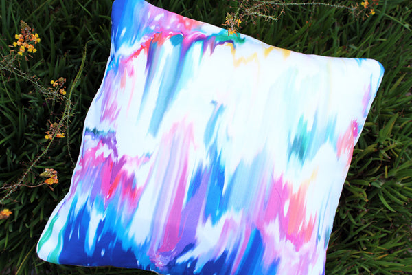 An Lim abstract watercolor pillow cover