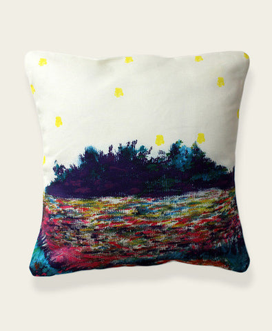 An Lim firefly landscape pillow cover