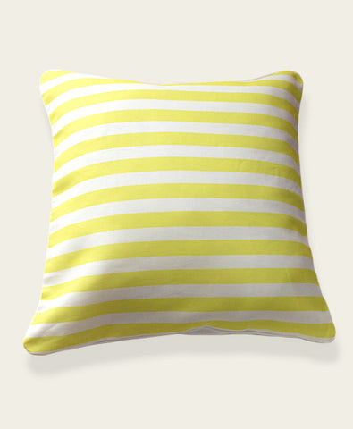 An Lim Lemon yellow stripe pillow cover