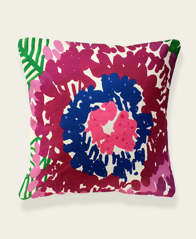 An Lim Oversized Bloom abstract pillow