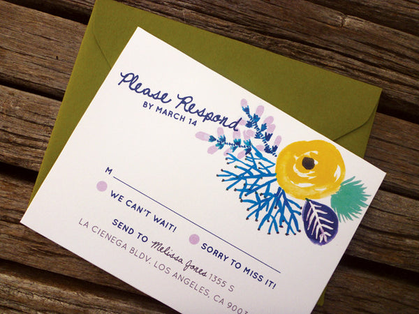 An Lim Beginning of Summer RSVP Card