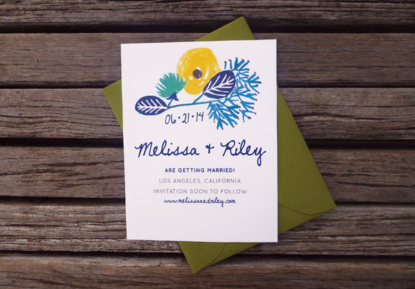 An Lim Beginning of Summer Save the Date Card