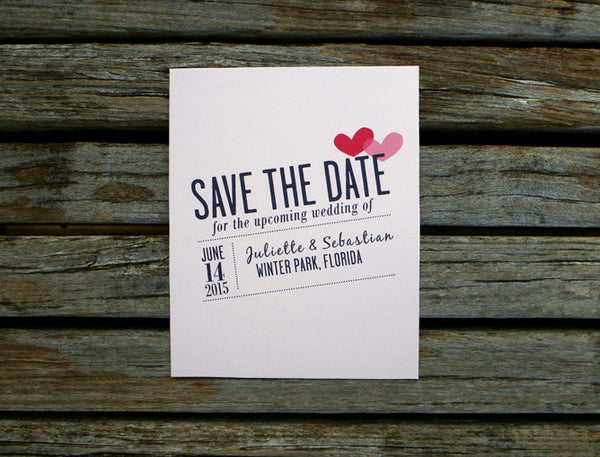 An Lim Valentine Wedding Save the Date Card