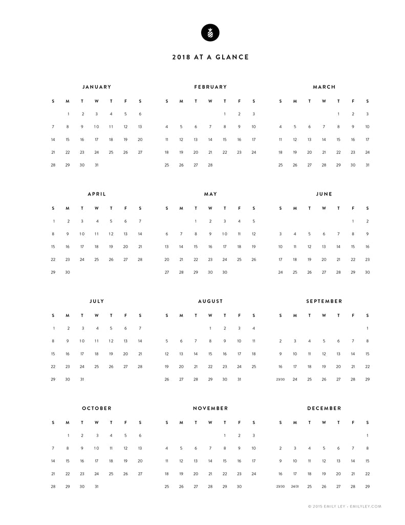Free printable library – Simplified® by Emily Ley