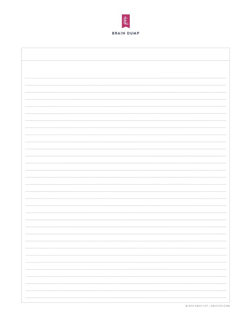 photo about Free Printable Journal Pages Lined identified as Absolutely free printable library Simplified® via Emily Ley