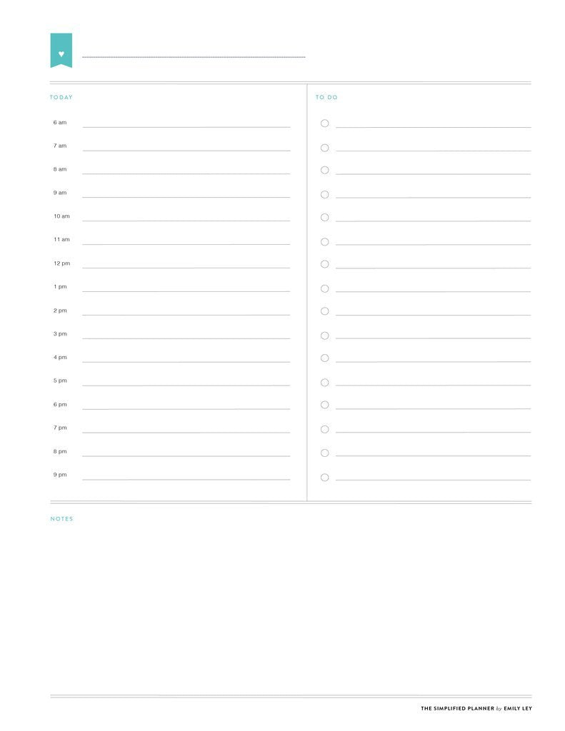 photograph about Free Printable Planners titled No cost printable library Simplified® as a result of Emily Ley