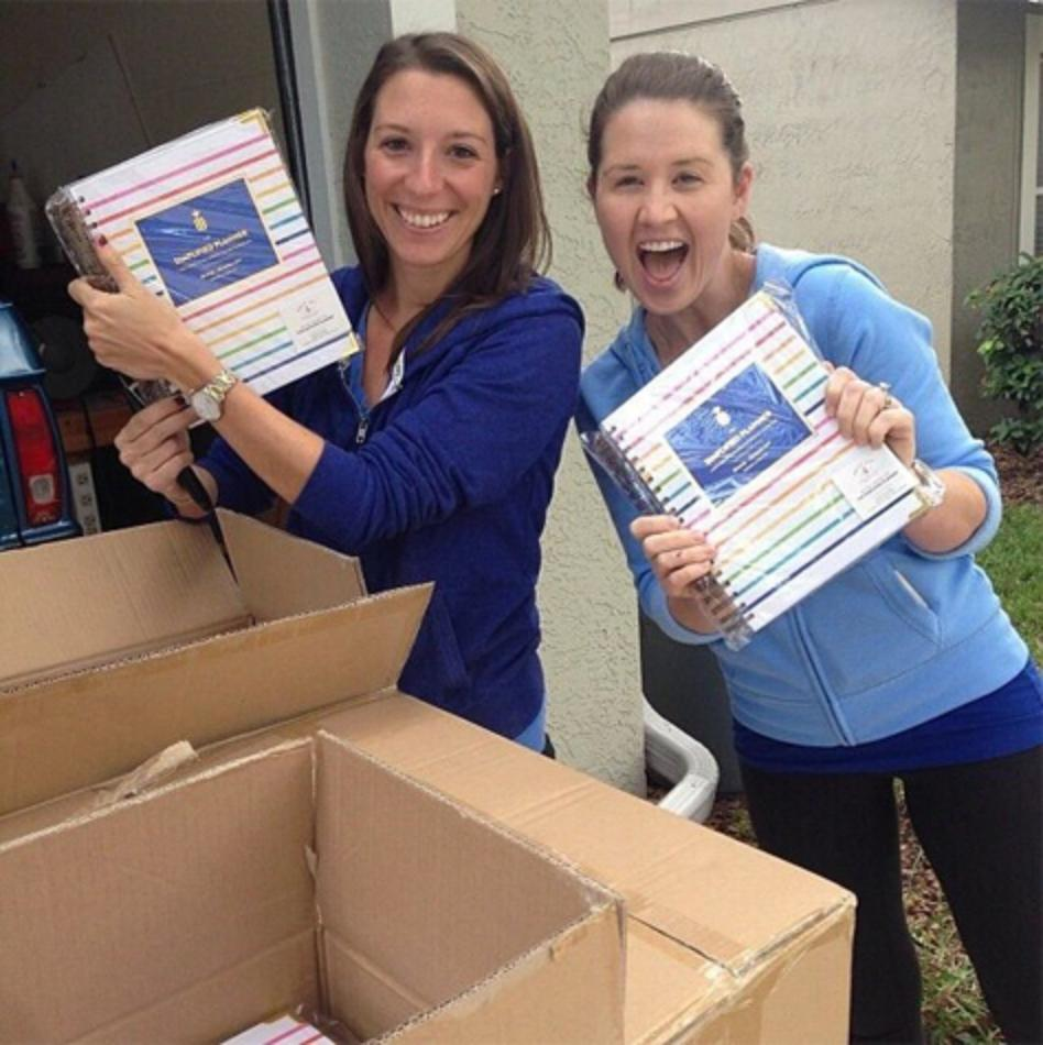 Emily and Gina with the first Simplified Planners