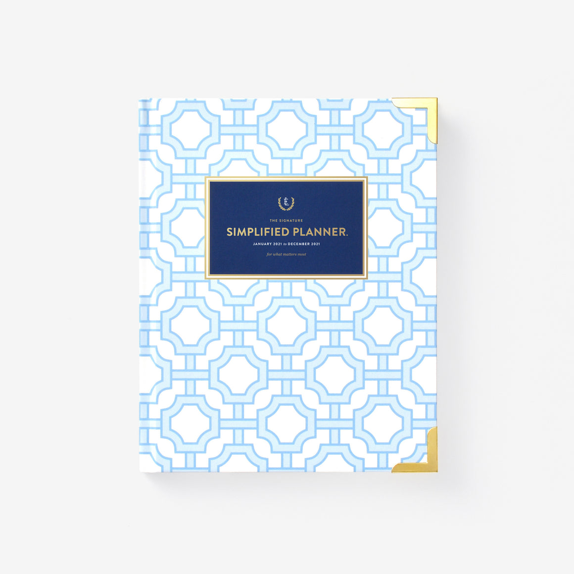 featured: BLUE TRELLIS WEEKLY PLANNER COVER