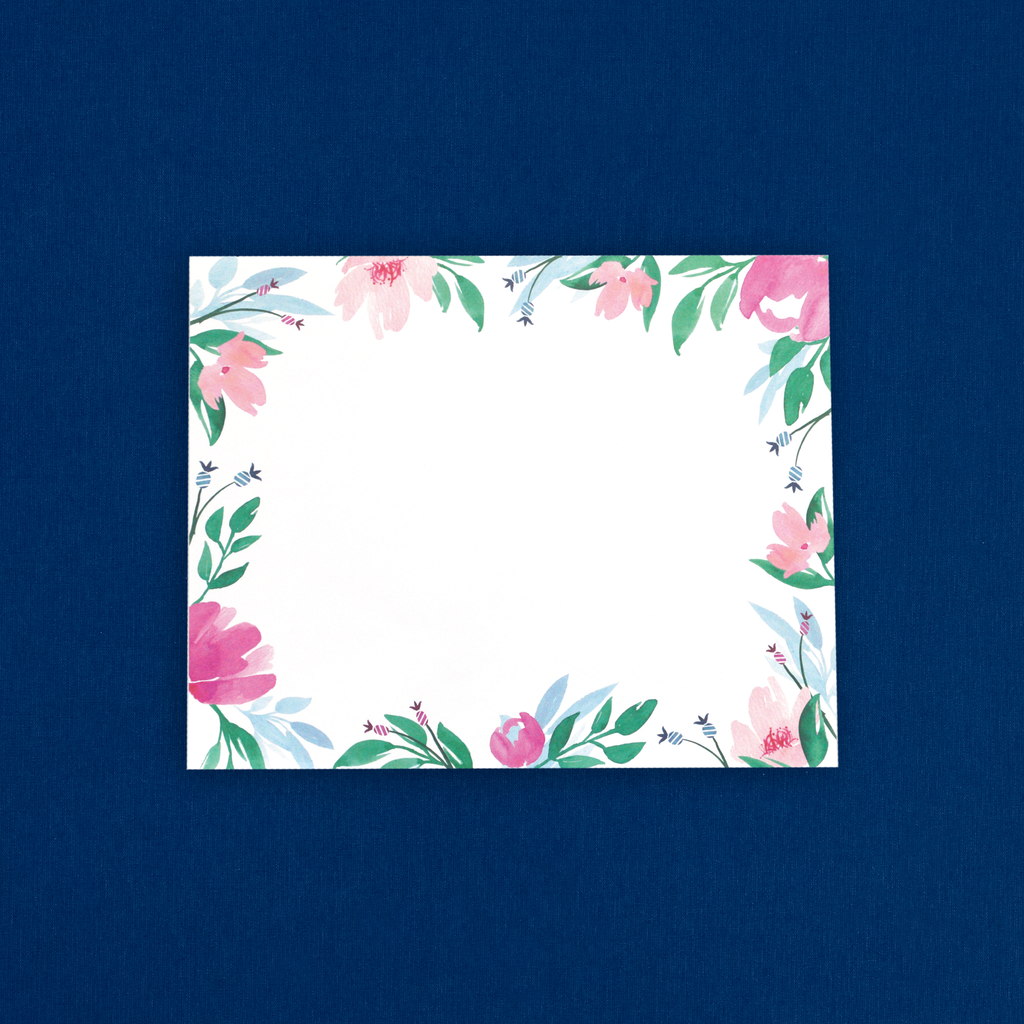 Blank, Floral Notepad