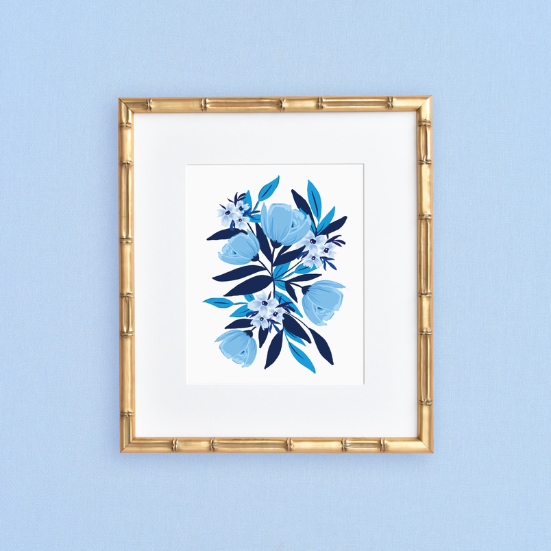 Blue Blooms Art Print
