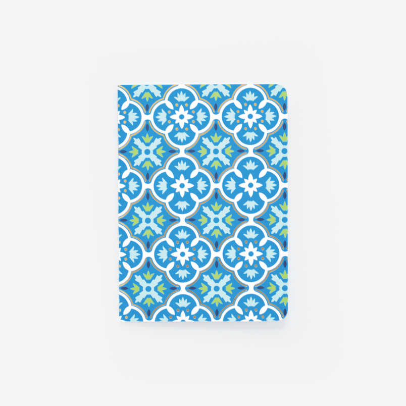 Blue Tile Mini Notebook