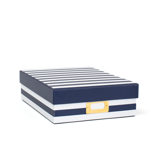 Memory Box - Navy Stripe