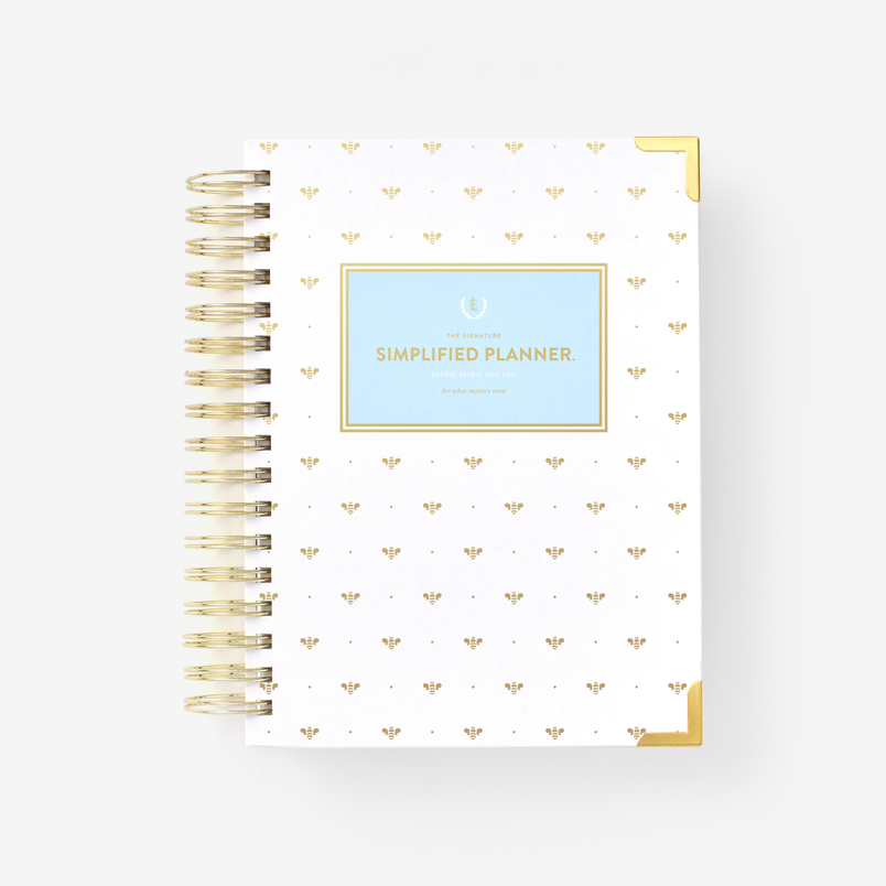 Gold Bee 2020-2021 Daily Simplified Planner