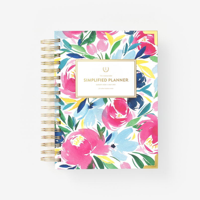 Happy Floral 2020-2021 Daily Simplified Planner