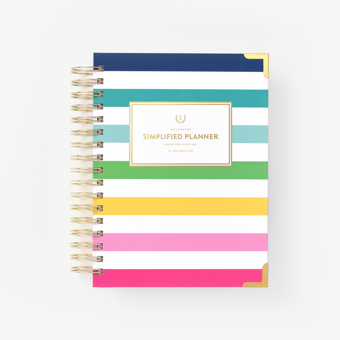 featured: HAPPY STRIPE DAILY PLANNER COVER