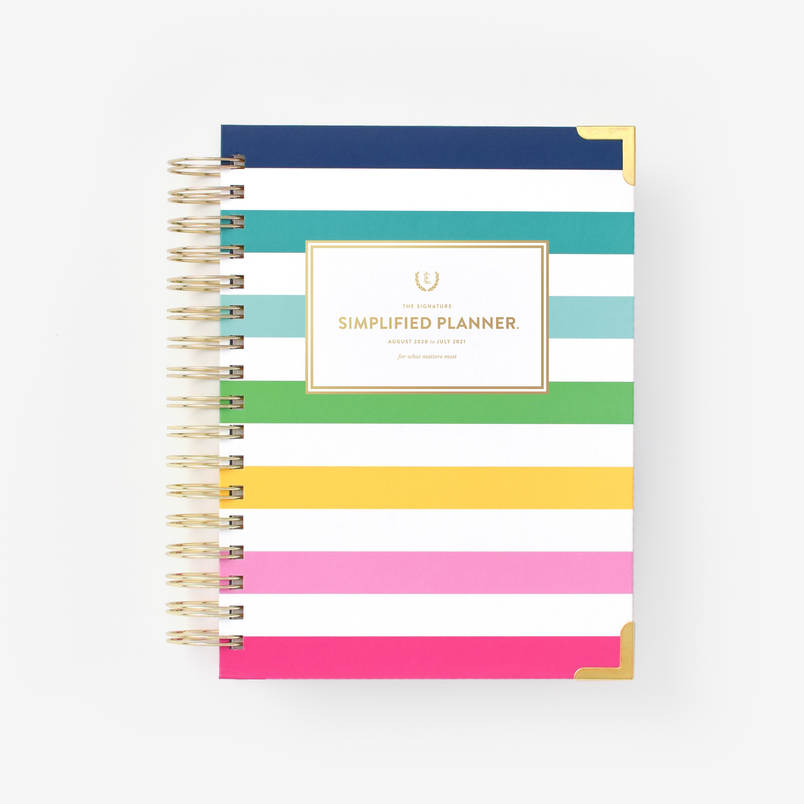 Happy Stripe 2020-2021 Daily Simplified Planner