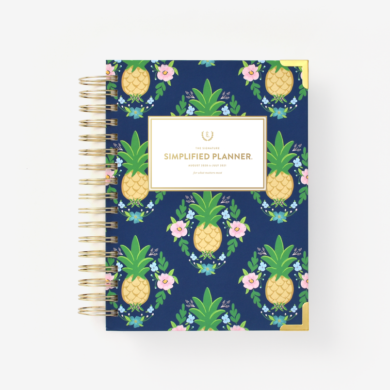 Pineapple Crest 2020-2021 Daily Simplified Planner