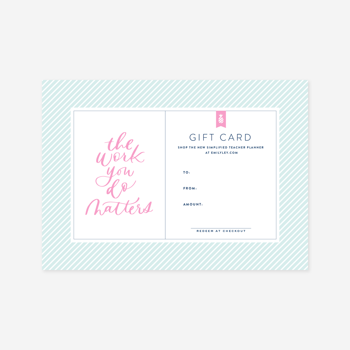 Teacher Planner Digital Gift Card