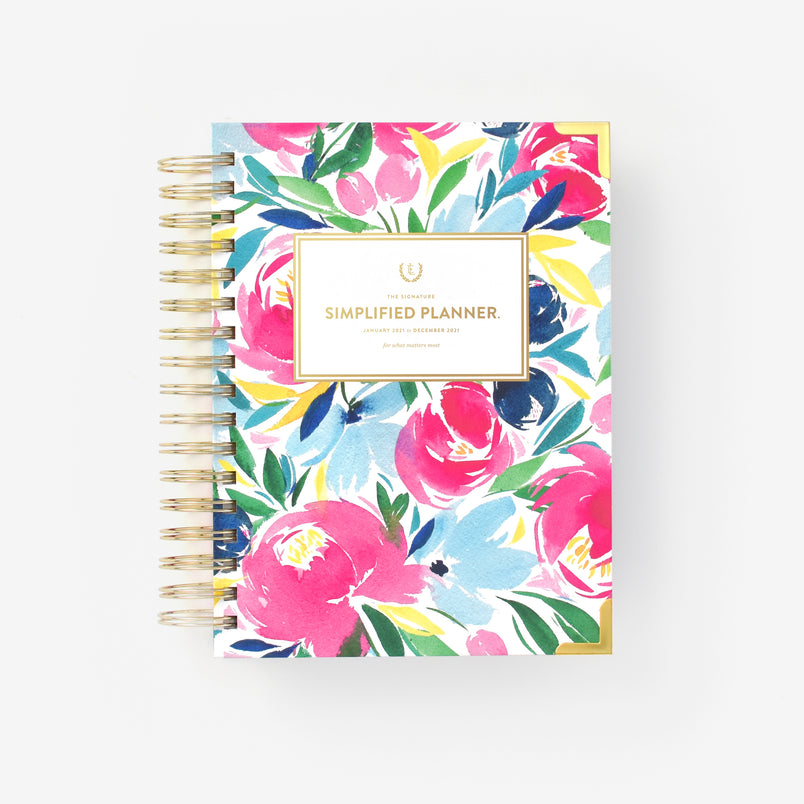 Happy Floral 2021 Daily Simplified Planner