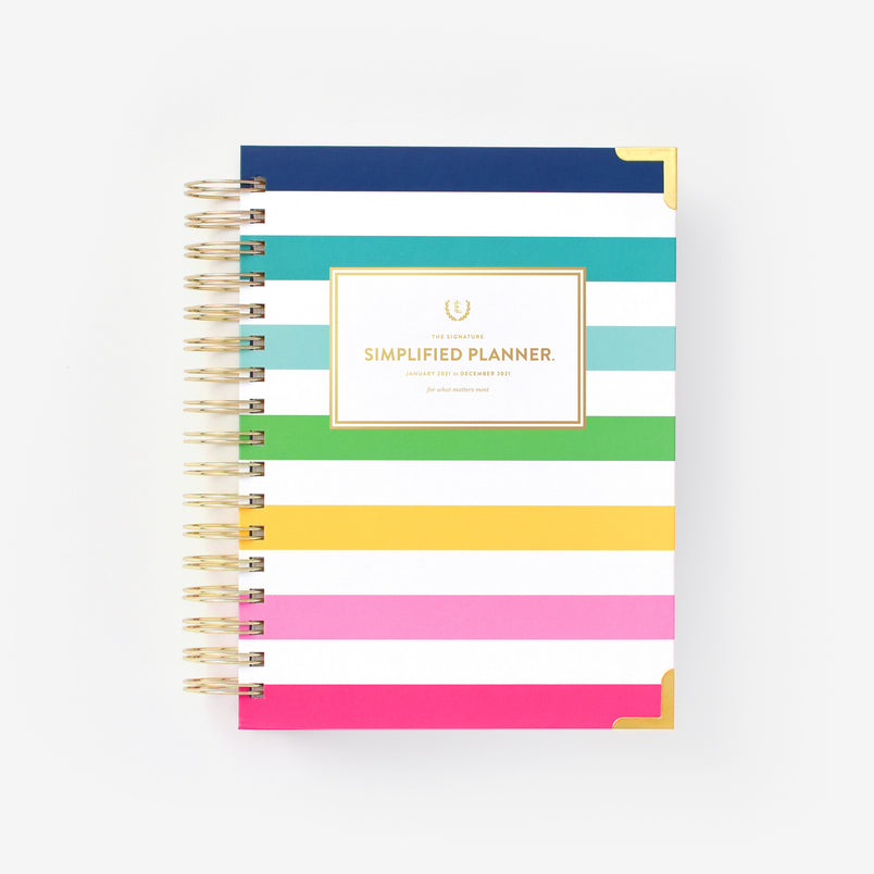 Happy Stripe 2021 Daily Simplified Planner