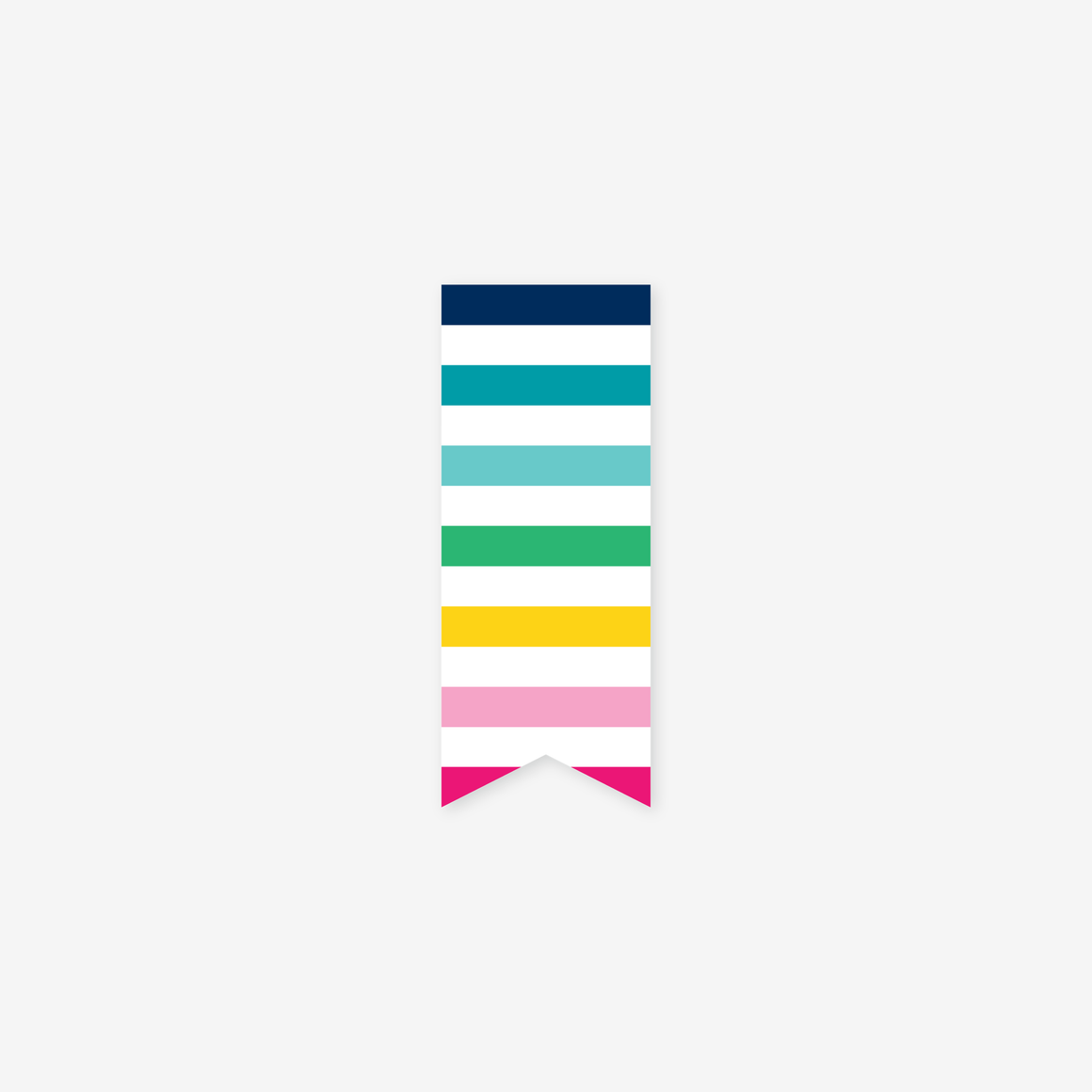 featured: HAPPY STRIPE PAGE MARKER
