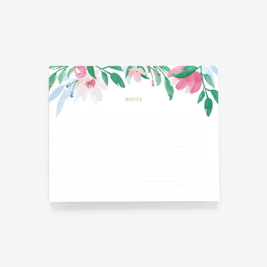 Lined, Floral Notepad