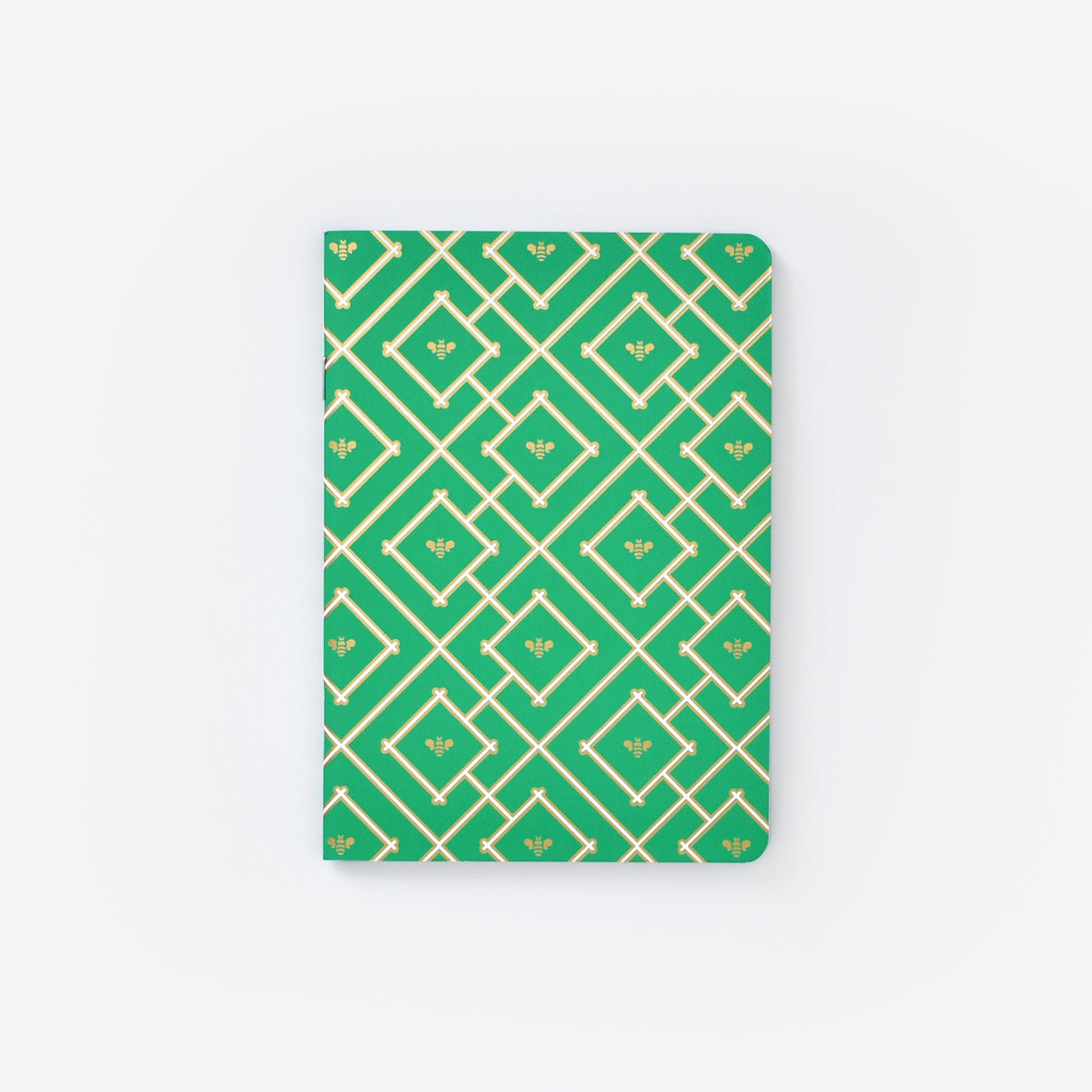 featured: Kelly Green Bees  Mini Notebook