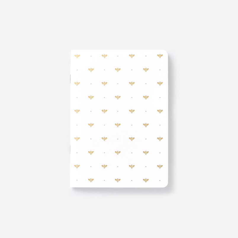 Gold Bee Mini Notebook