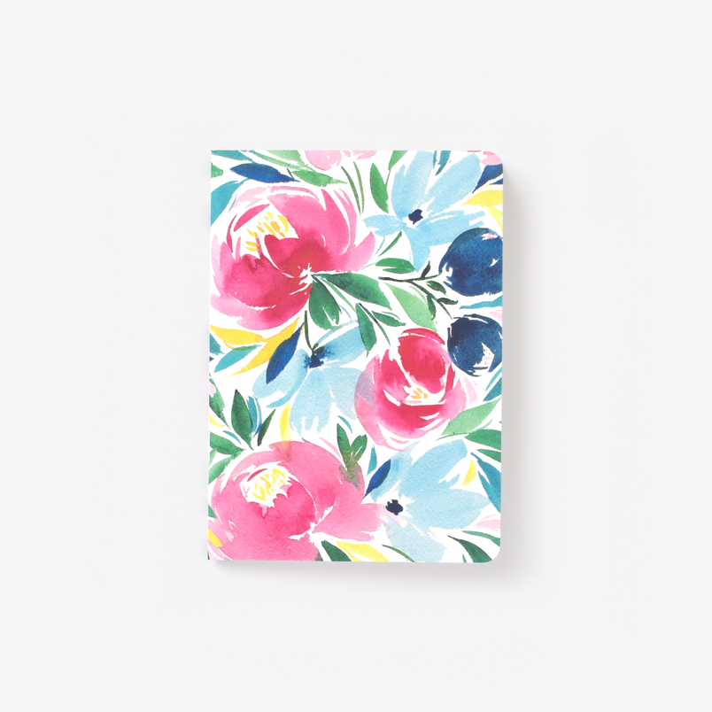 Happy Floral Mini Notebook