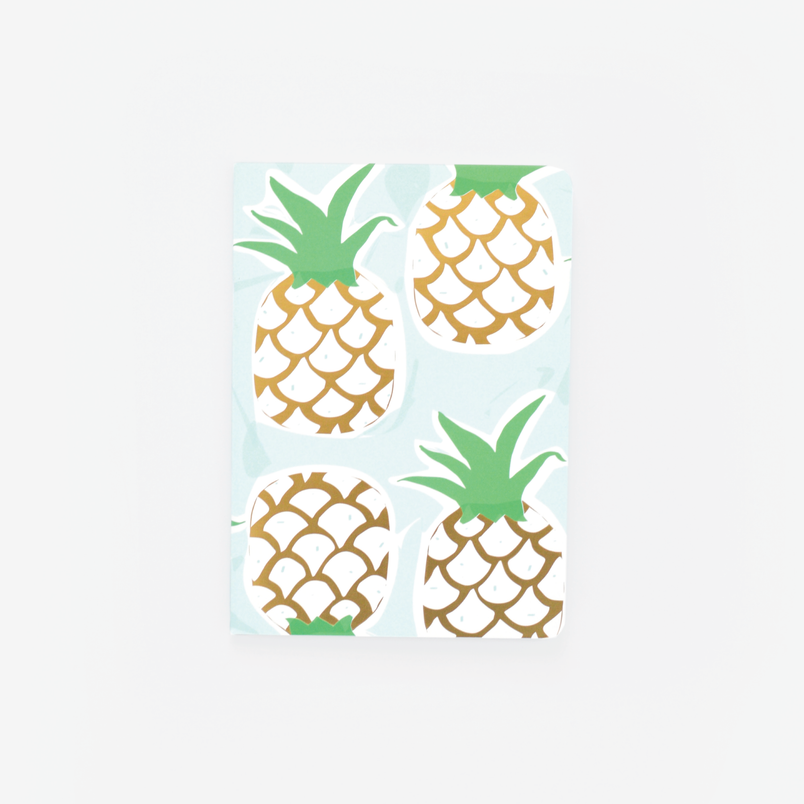 Mint Pineapple Mini Notebook